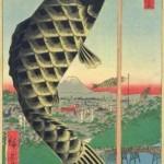 端午の節句がテーマの葛飾北斎と歌川広重の二枚の浮世絵